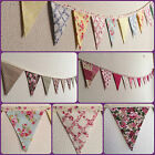 Handmade Bunting Floral, Polka Dot, Stripe, Flowers, Vintage, Pink, Small Mini