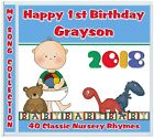 1st birthday, Nursery Rhymes CD, Baby's Personalised First Birthday Boy Gifts