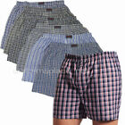 Mens 6 pairs Boxer Shorts Cotton/Poly Plaid Shorts Underwear S, M, L or, 3XL