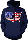 'Merica Distressed American Flag Patriotic USA Redneck Mens Hoodie Sweatshirt