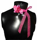 New handmade FELT Ribbon necklace belt scarf and hair band Flowers VALENTINE'S