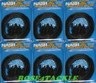 5 pk of Nash Safety Bolt Rig kit - Rig tubing .swivels . Lead clips tail rubbers