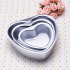 3 Sizes Aluminum CAKE PAN Heart Birthday Party Decorating Baking Tool Mould