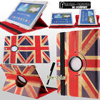 vintage retro union jack British 360 rotating stand leather case cover tablet