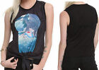 Disney Alice In Wonderland Keyhole Tie Waist Sleevless T Shirt Tank Top Licensed
