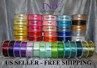 SATIN RIBBON 100% POLYESTER 50 100 YARDS ROLL 1/4