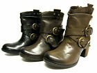 """Ladies Hush Puppies Leather Cowboy Style Ankle Boots 3"""" Heel MOORLAND ANK"""
