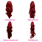 PONYTAIL Hairpiece Clip in Hair Extensions Pillar Red REVERSIBLE 4 Styles