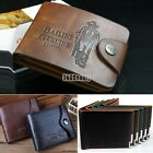 New Retro Men's Cowboy Leather Bifold Wallet Multi Pocket Credit Card Purse B5UT