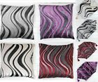 Fashion Zebra Stripe Table Runner Soft Cushion Cover Throw Pillow Case Decal Set