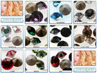 100x Swarovski Xilion Chaton 1028 Pointed-back PP24 & PP32 * Many Colours *