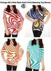 LADIES ZEBRA PRINT TOP BLOUSE STRIPES WOOL JUMPER SWEATER VINTAGE RETRO STYLE