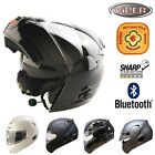 VIPER V131 Bluetooth Flip Up Front DVS Motorbike Motorcycle Helmet ACU GOLD