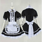 Lolita Costume White Mixed Black Japanese Style Maid uniform Cosplay Dress