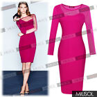 Womens Celeb New Style Sexy Mesh Sleeve Cocktail Party Bodycon Dresses Size81024