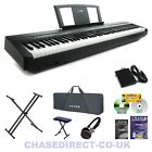 Yamaha P-45 Digital Piano Portable Stage Keyboard Bundle 88 Fully Weighted Keys