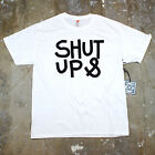 Mens Humor Shut Up And Screen Minimal Type Typography Graphic Tee Shirt New
