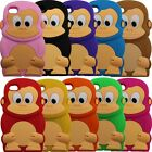 Cute 3D Baby Tiny Monkey Soft Silicone Case Cover for iPhone 4 4G 4S