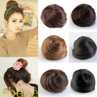 Women Girl Clip In Pony Tail Hair Extension Scrunchie Bun Look Hairpiece 6 Color