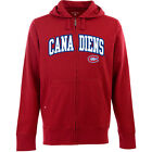 Antigua Men's Montreal Canadiens Full-Zip Hooded Applique Sweatshirt