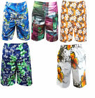 Mens Shorts Swimming Trunks Cargo Floral Beach Summer Graphic Print Mesh New