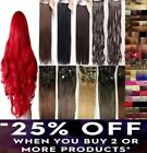 cheap best quality clip-on hair extensions 3/4 full head red ginger blonde hair