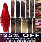 clip in hair extensions half head red ginger blonde brown Sandy White grey blue