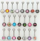 """14g x 7/16"""" BAD WORD THEME BELLY RING Choose Style Body Piercing Jewelry HOT!!"""