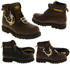 Mens Leather Boots Safety Acid Oil Resistant Work Boots Sizes 6 7 8 9 10 11 12