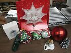 Chrismas Decorations Lot of 9 Pieces! Star Tree Topper & Ornaments! 032714ame2