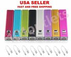 2600mAh Portable USB External Mobile Battery Charger for iPhone 4 5 Power Bank