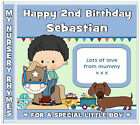 Nursery Rhymes CD - 2nd/3rd Birthday Gift for Boys - Personalised Gifts 4 Kids