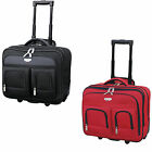 Travelers Club Eurovalue 17-Inch 2-Section Rolling Laptop Briefcase