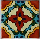 Mexican Tile Folk Art Handmade Talavera Backsplash Handpainted Mosaic # C329