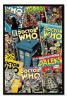Framed Doctor Who Comic Montage Magnetic Notice Board Includes Magnets
