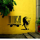 ARGE BANKSY WALL STICKER LION BARCODE ESCAPE NEW  ART UK TRANSFER  DECAL