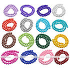4/6/8/10/12mm Opaque Coated Glass Round Ball Loose Bead Women Jewelry DIY Strand