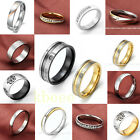Mens Womens Stainless Steel Comfort Fit Wedding Bands Promise Couple Lover Ring