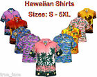New Mens True Face Hawaiian Fancy Dress Summer Beach Printed Generous Fit Shirt