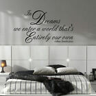 LARGE HARRY POTTER WALL STICKER QUOTE IN DREAMS ENTER OWN WORLD NEW ART TRANSFER
