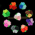 10pcs Colorful Rose FIMO Polymer Clay Beads 3D 26mm DIY Accessories Phone Decors