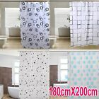 UK New Modern Quality Bathroom Shower Curtains with Hooks,180x200CM
