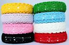 Fabric Cotton Lace Shabby Chic Sticky Adhesive Trim Washi Tape Craft 18mm Roll