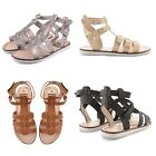 NEW LADIES CUT OUT T BAR SANDALS HIGH GLADIATOR SUMMER HOLIDAY BEACH SHOES UK