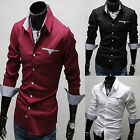 Mens Stylish Slim-Fit Formal / Casual Dress Shirt Multi-Color for Choose M-XXXL