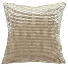 mp05a Pale Brown Gold Folds Pattern Shimmer Velvet Cushion Cover/Pillow Case