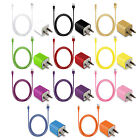 Ac Wall Charger+8 Pin Usb Sync Data Cable Cord For Apple Iphone 5s 5c 5 Itouch 5