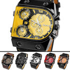 Russia Military 3 Times Oversized Leather Band Quartz Sport Men's Wrist Watch
