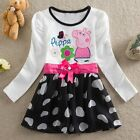Girls Kids Baby Peppa Pig Bow Flower Heart Tulle Skirt Dress 1-6Y Clothes 35DI