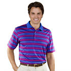 Monterey Club Mens Dry Swing Texture Stripe Shirt #1636